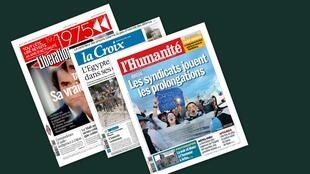 Capa dos jornais franceses, Libération, La Croix e L'Humanité desta quinta-feira, 11 de julho