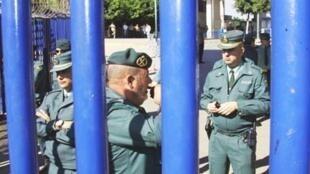 Le poste frontière de Beni-Ensar entre le Maroc et l'enclave espagnole de Melilla.