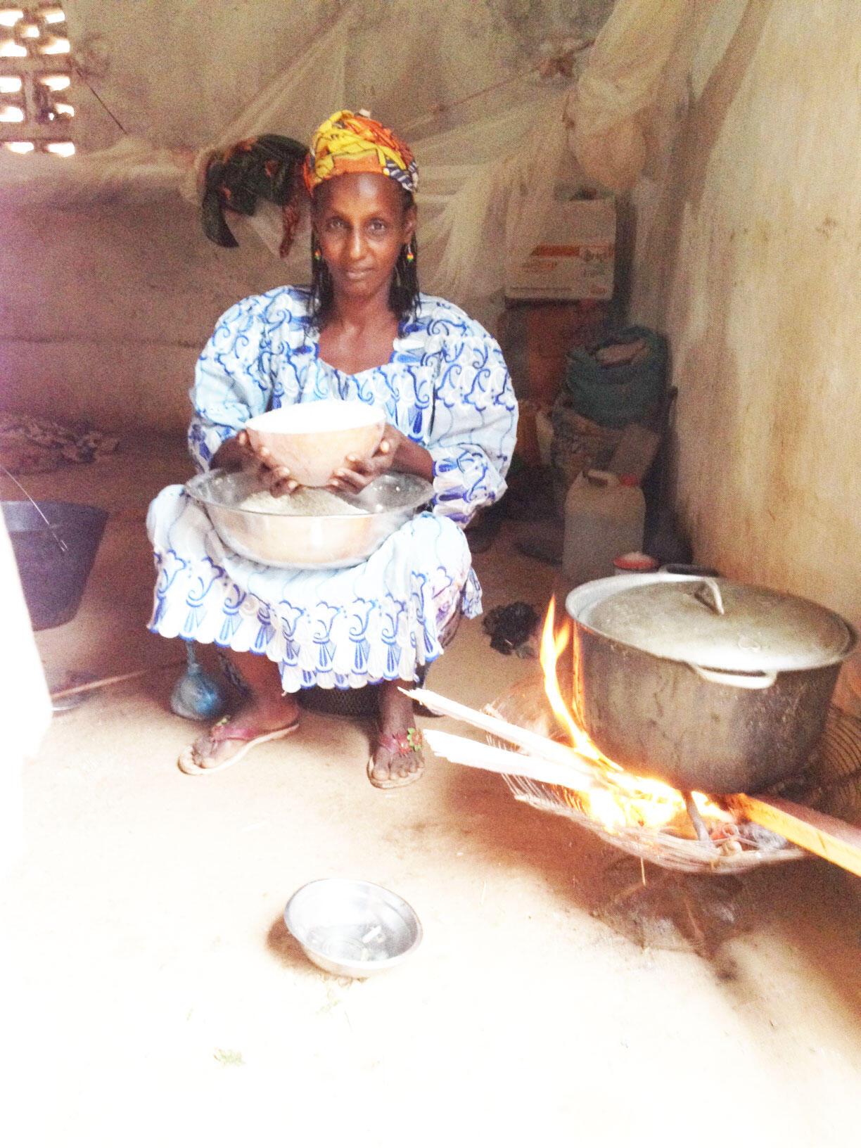 Une femme à Bangui (Centrafrique)
