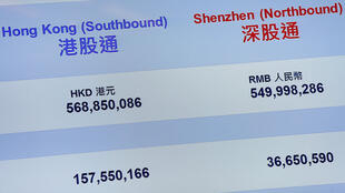 资料图片:2016年12月5日,香港与深圳股市正式启动深港通。