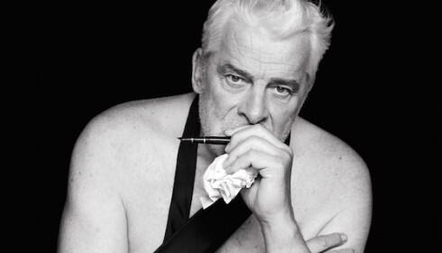 Le comédien Jacques Weber. Détail de l'affiche de la pièce «Hôtel Europe» de Bernard-Henri Lévy.