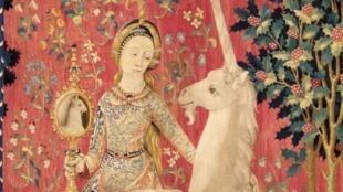 Fragmento de La dame à la licorne