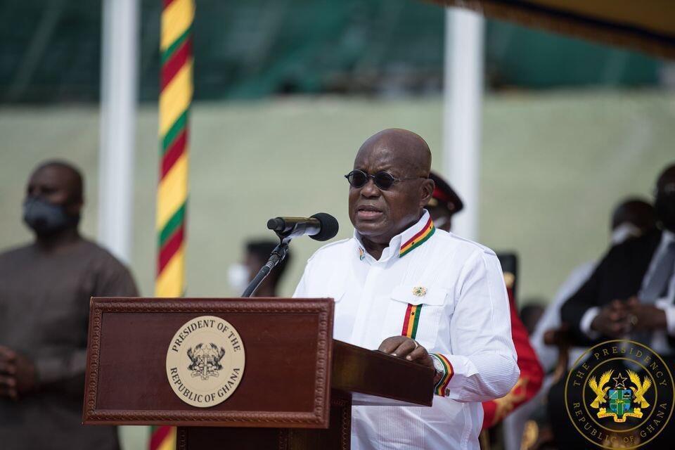 Shugaban Ghana Nana Akufo Ado, yayin bukin ranar samun yancin kai a filin tunawa da yanci dake Accra, ranar 06 ga watan Maris shekarar 2021
