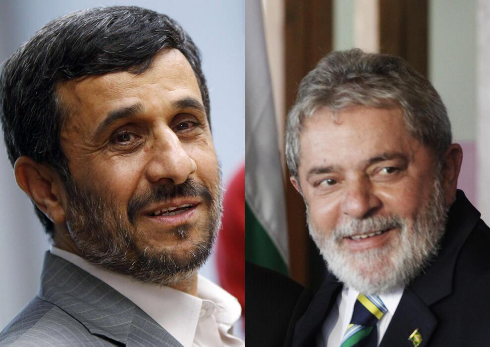 O presidente do Irã, Mahmoud Ahmadinejad, recebe o presidente Lula neste domingo, em Teerã.