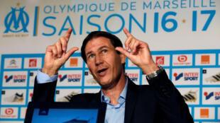 Rudi Garcia, nouvel entraîneur de l'Olympique de Marseille.