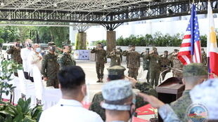 Quân đội Philippines và Hoa Kỳ khai mạc cuộc tập trận Balikatan lần thứ 36, tại Doanh trại Aguinaldo, Quezon City, Manila, Philippines, ngày 12/04/2021.