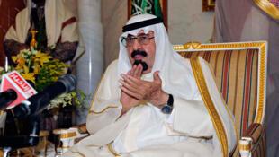 Le roi Abdallah d'Arabie Saoudite à Riyad, le 10 février 2012.
