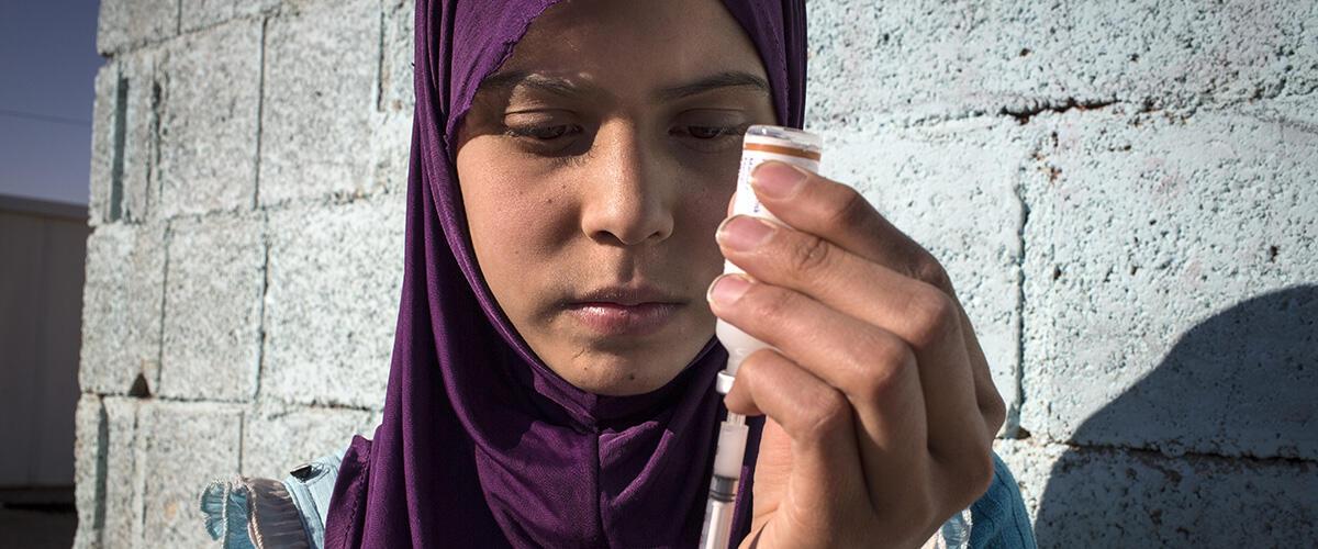 Raghad anaishi katika kambi ya wakimbizi nchini Jordan na anaugua ugonjwa wa kisukari.