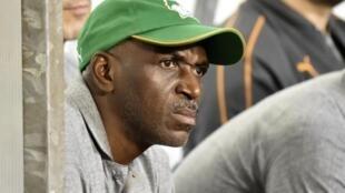 Le désormais ex-entraineur de la Côte d'Ivoire Ibrahim Kamara, en novembre 2019.