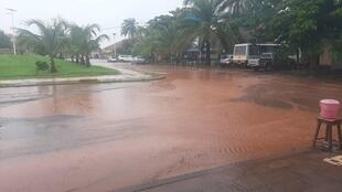 Baixa de Bissau alagada a 13 de Agosto de 2020.
