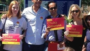 Chuka Umunna, Labour candidate for Streatham constituency, campaigns for re-election, Saturday 3 June 2017
