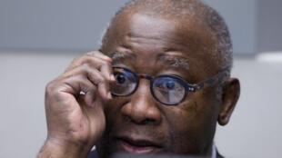 L'ex-président ivoirien, Laurent Gbagbo, lors d'une audience de la Cour pénale internationale (CPI).