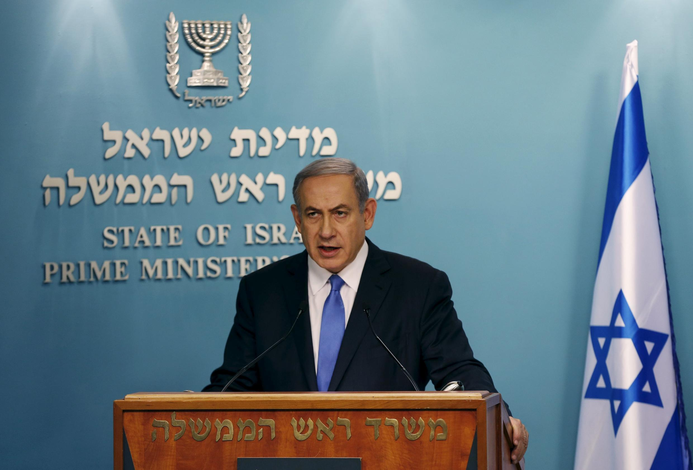 O primeiro-ministro israelense, Benjamin Netanyahu, critica o acordo entre o Irã e as grandes potências.