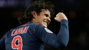 Edinson Cavani was substituted after scoring PSG's winner against Bordeaux.