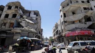 叙利亚伊德里卜街景