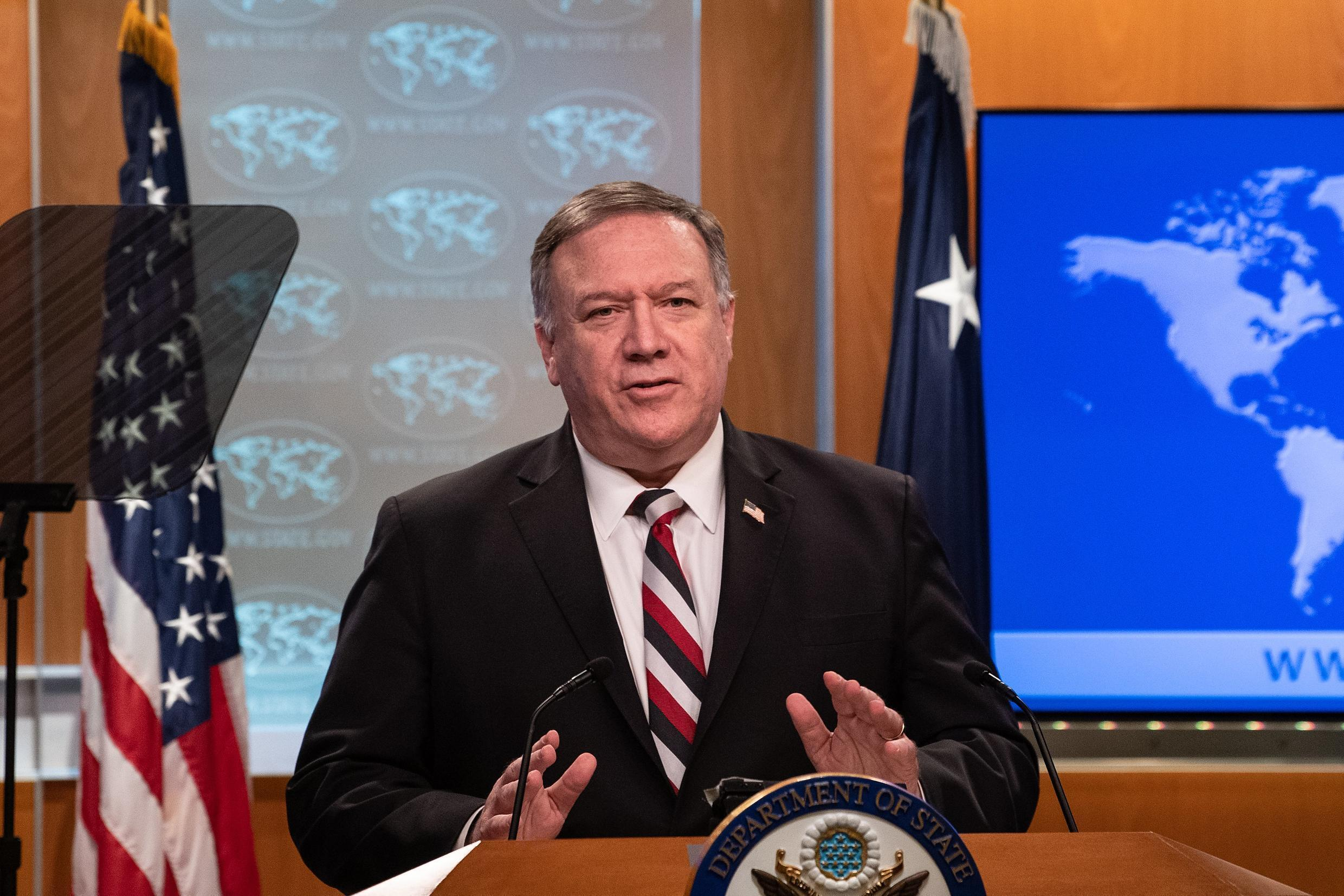 US Secretary of State Mike Pompeo, seen here in March 2020, is encouraging Saudi Arabia to recognize Israel