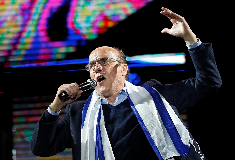Daniel Martínez, el candidato del Frente Amplio, este 23 de octubre de 2019 en su cierre de campaña en Montevideo.