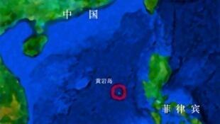 圖為黃岩島地理圖