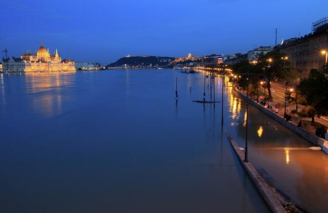 Le Danube en crue, Budapest, le 8 Juin 2013.