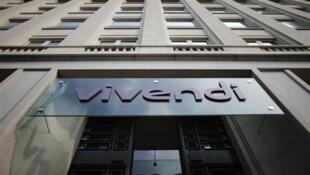 Façade du siège social de Vivendi à Paris.