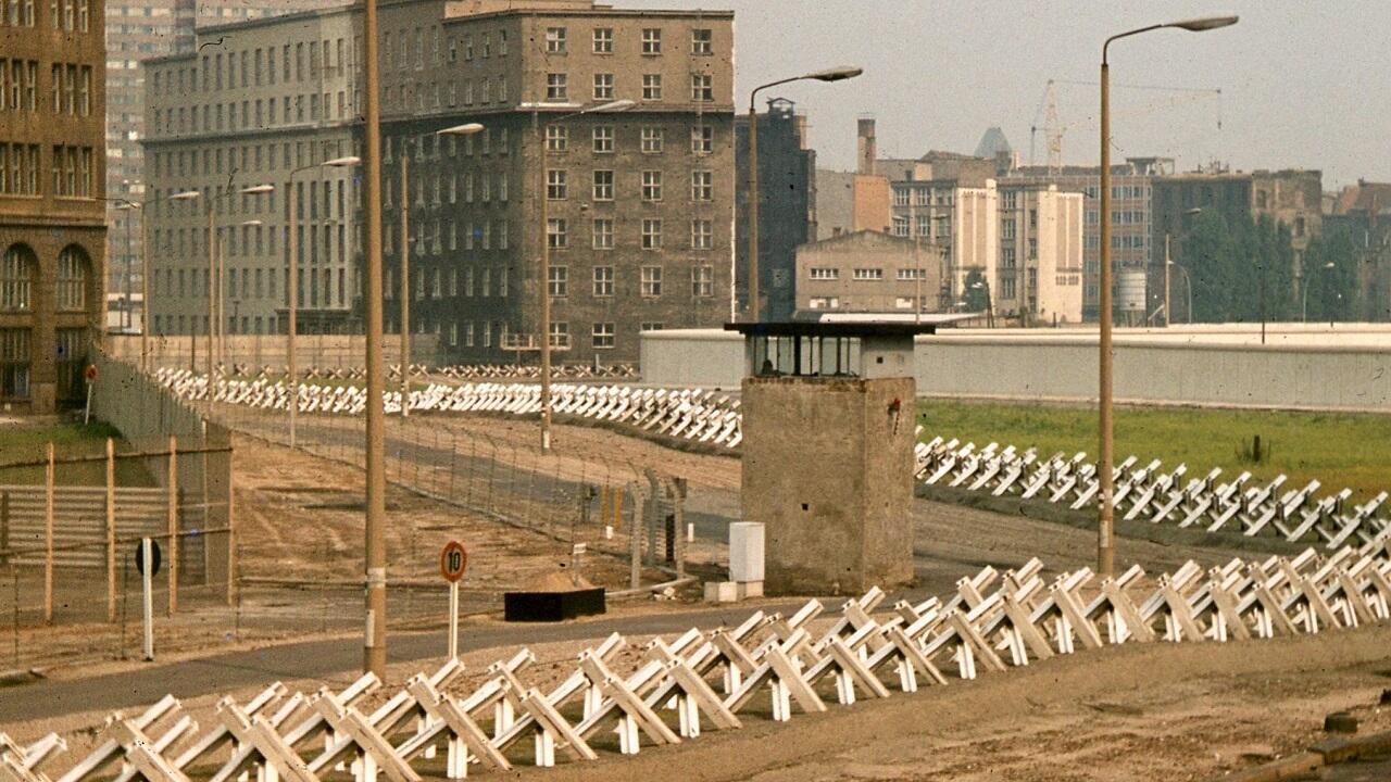 Берлинская стена в 1977 г.