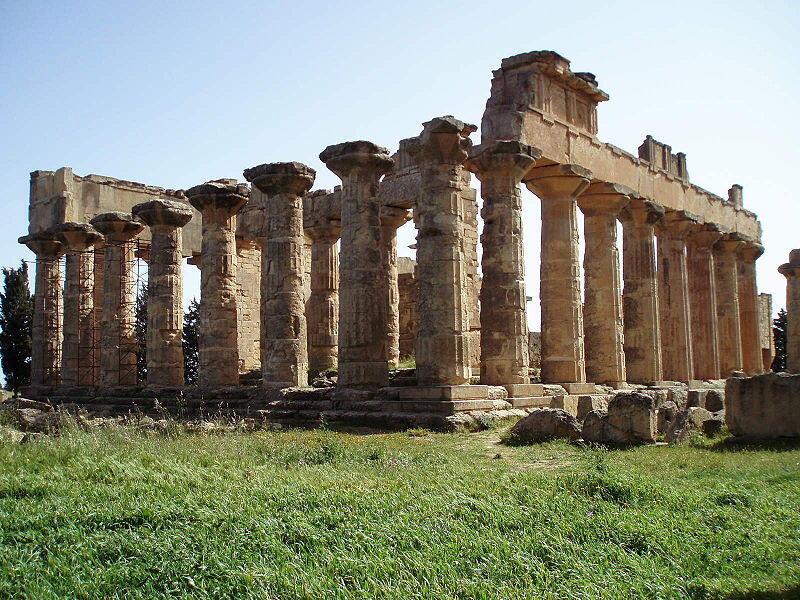 Temple de Zeus, Cyrène en Libye.