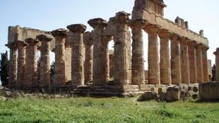 Les ruines du temple de Zeus à Cyrène en Libye.