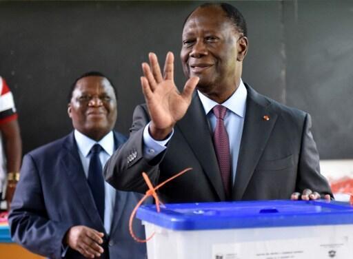O presidente marfinense Alassane Ouattara. 18 de Dezembro de 2016.