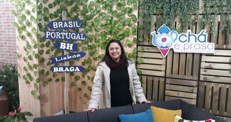 A youtuber Alexandra Gomide, em Portugal.