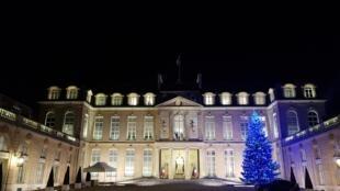 Le palais de l'Élysée à Paris le 22 décembre 2017.