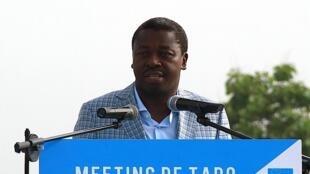 Le président Faure Gnassingbé, lors d'un meeting à Tado, au Togo, le 13 avril 2015.