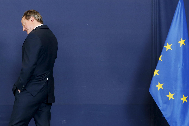 David Cameron tại  Bruxelles.