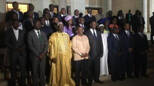 Cérémonie d'investiture du gouvernement du Premier ministre, Nuno Nabian (désigné par Umaro Sissoco Embalo) au palais présidentiel, au soir de ce lundi 2 mars 2020.