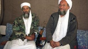 Osama ben Laden (L) with Ayman al-Zawahiri in 2001