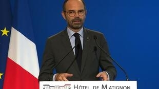 法國總理愛德華-菲利普(Edouard Philippe) 2018年12月4日