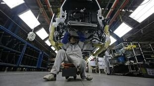 Inside a Peugeot factory - investment in the car industry has slumped this year in France