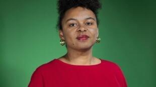 """Portrait d'Audrey Célestine, elle publie """"Des vies de combat, femmes, noires et libres"""", aux éditions Iconoclastes."""