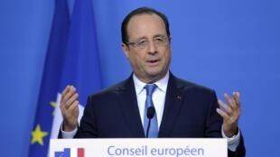 Франсуа Олланд, Брюссель, 20 декабря 2013 года