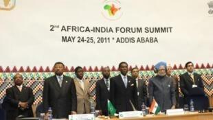 Le deuxième sommet Afrique-Inde à Addis Abeba, en 2011.