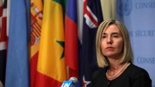 La chef de la diplomatie européenne, Federica Mogherini, ici à l'assemblée générale de l'ONU, le 22 septembre 2016.