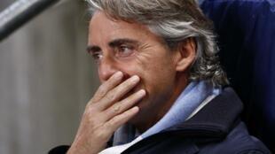 Kocin Manchester City Roberto Mancini ya dahe baki a wasa tsakaninsu da Ajax