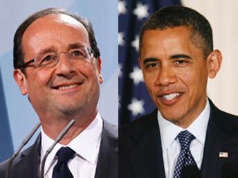 François Hollande Sabon shugaban kasar Faransa da Shugaban Amurka Barack Obama