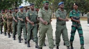 Des étudiants de l'école militaire de Makabandilou, dans la banlieue de Brazzaville (archives).