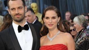 Natalie Portman y Benjamin Millepied, en febrero de 2012.