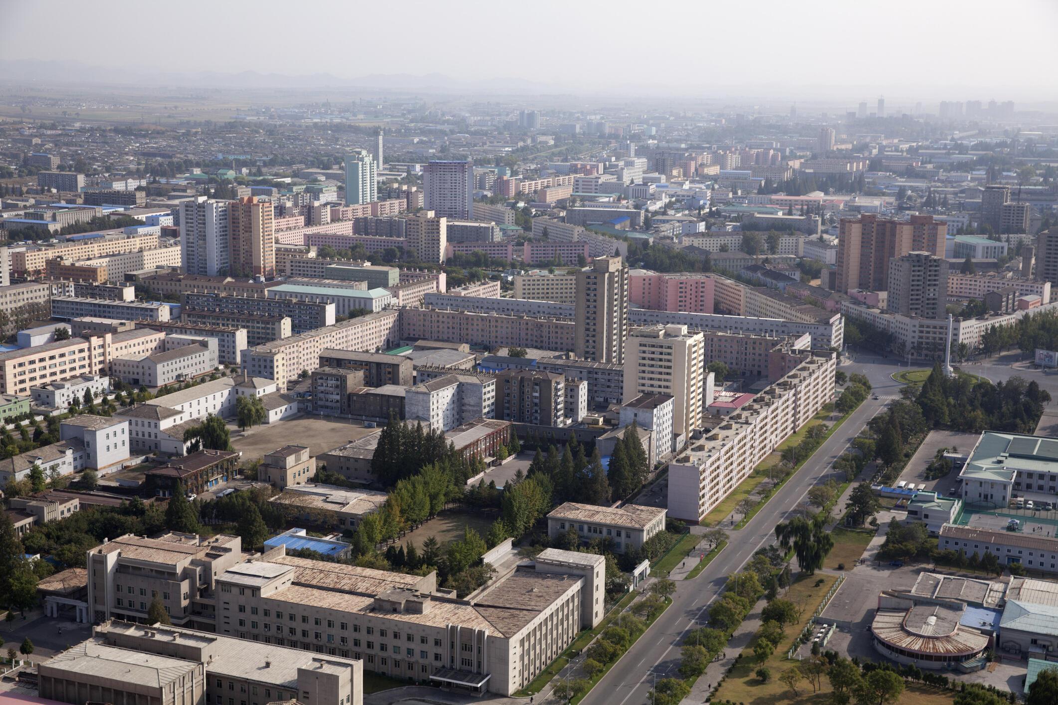 Vue générale de Pyongyang, capitale de Corée du Nord (image d'illustration).