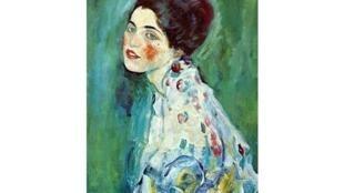 奥地利画家古斯塔夫·克林姆特作品《女士肖像》 - Portrait de la Dame