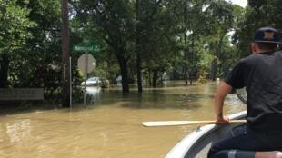 Circulation fluide sur Memorial Road à Houston, le 2 septembre 2017.