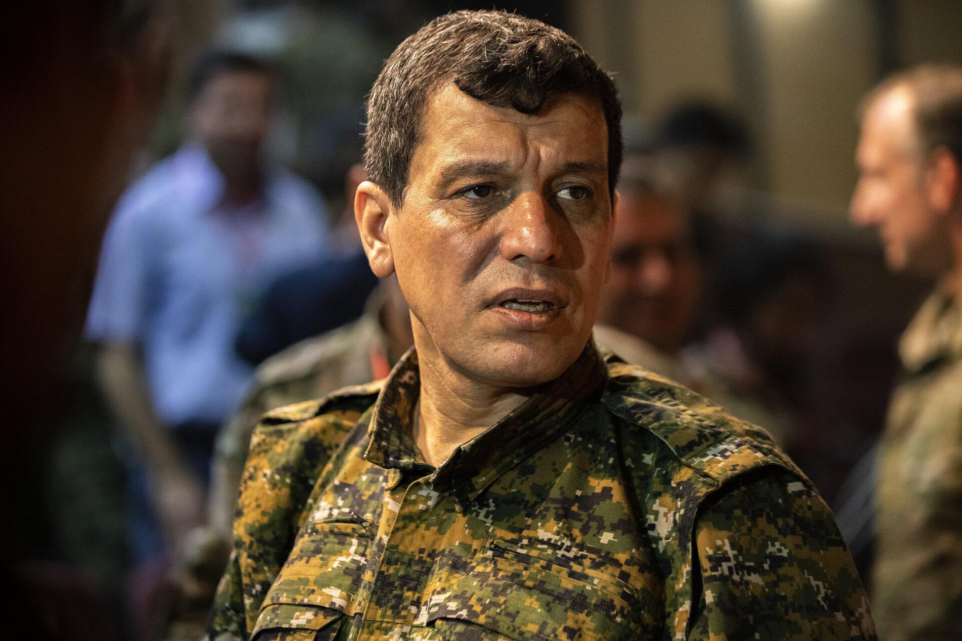 Mazlum Kobani, comandante en jefe de las Fuerzas Democráticas Siria (FDS), dominada por los kurdos, el 24 de agotos de 2019.