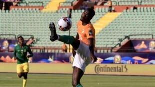 L'Ivoirien Nicolas Pépé lors de la CAN 2019.