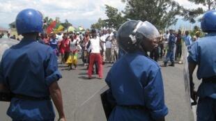 'Yan sandan kasar Burundi suna arangama da masu zanga-zanga